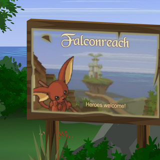 Welcome sign to Falconreach