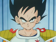 Vegeta at the age of 9