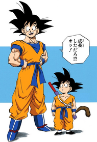 Goku Growing Up
