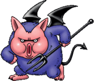 DQVII3DS - Forky pig