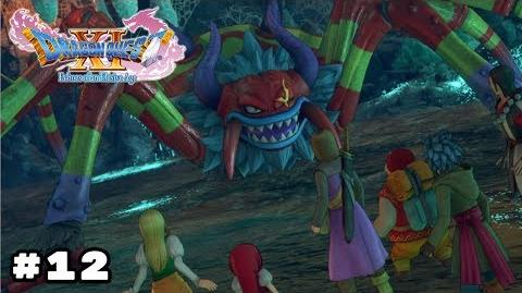 Dragon Quest XI Arachtagon Boss Fight