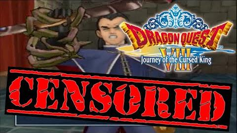 Dragon Quest 8 3DS Censorship Comparison - Marcello Stabs Himself Cutscene