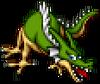 DQXI - Green dragon 2D