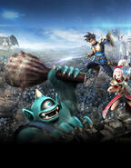 DQHTWTWBB - Luceus and Aurora battling Cyclops and other monsters