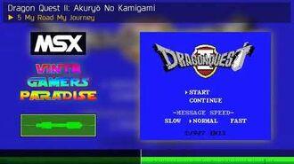 5 My Road My Journey Dragon Quest II Akuryō No Kamigami MSX Soundtrack