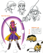 DQVIII - Hero Super High Tension and Munchie concept artwork