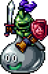 DQXI - Metal slime knight 2D
