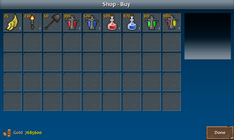 Shop 4 shadow items