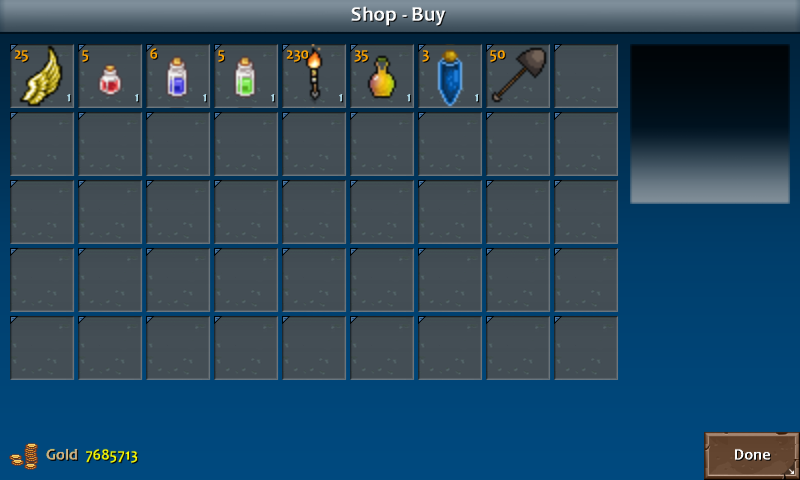 Shop 1 flint items