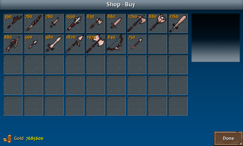 Shop 4 shadow weapons