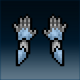Sprite armor plate blued hands