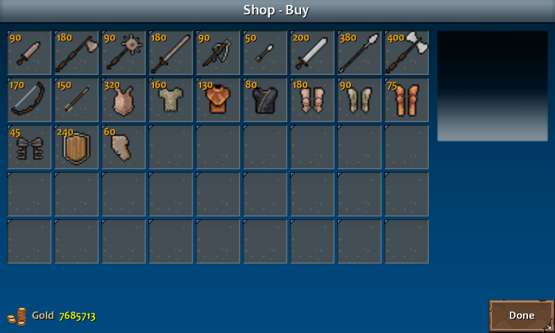 Shop 2 briston weapons armor