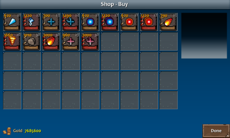 Shop 4 shadow spells wiz