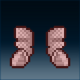 Sprite armor chain crimson feet