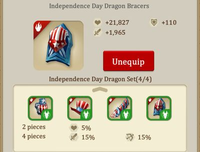 Independence day bracers