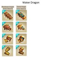 Waterdragonarmorsets