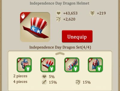 Independence day helmet