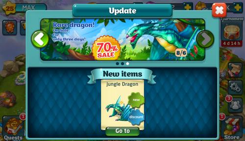 Jungle Dragon Update
