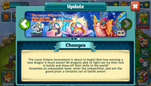 Tournament LXXV Update