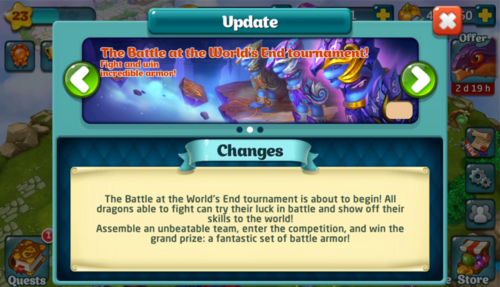 Tournament LV Update