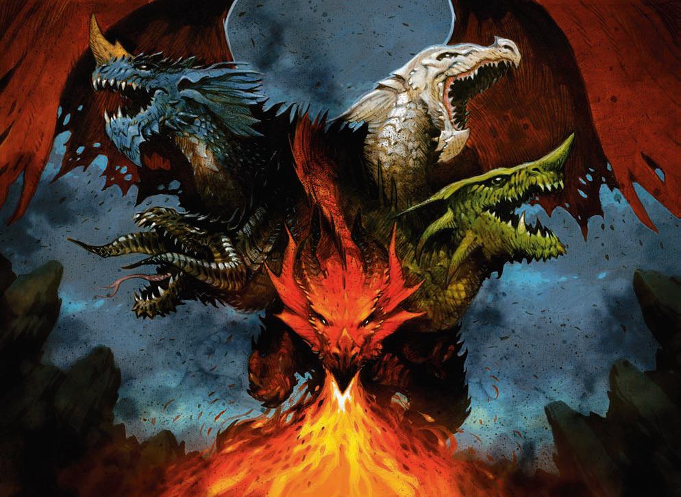 Дракон с пятью головами фото