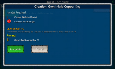 Gem Inlaid Copper Key