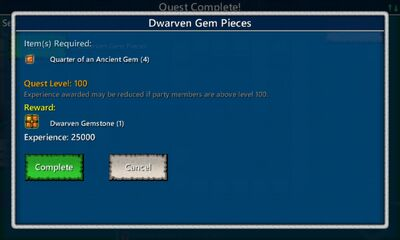 Dwarven Gem Pieces