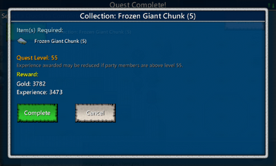 Collection-Frozen Giant Chunk