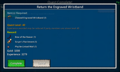 Return the Engraved Wristband