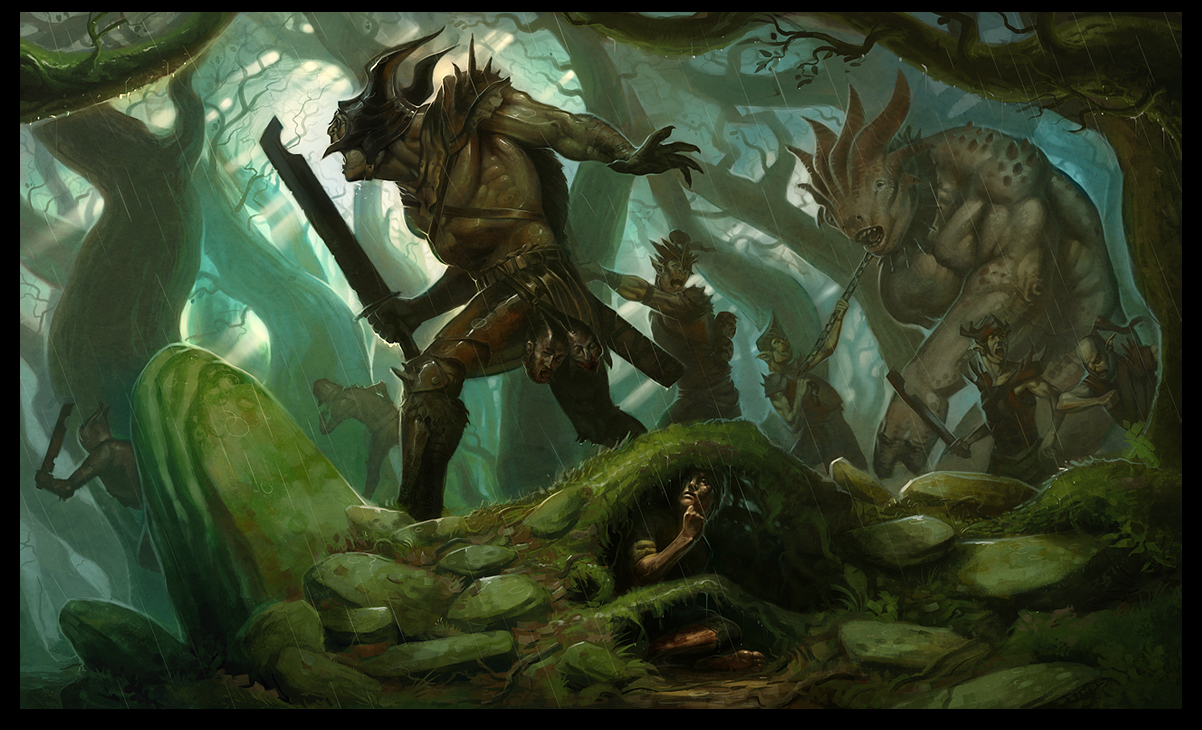 image 1202x730 604 the hunt 2d fantasy forest monsters picture