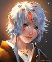 640x768 13776 Elf Child 2d fantasy portrait elf girl woman picture image digital art