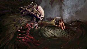 Dark-night-horror-woman-evil-demon-skull-skeleton-gothic-women-girl-mood