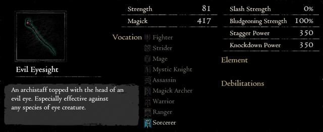 Dragonforged Evil Eyesight