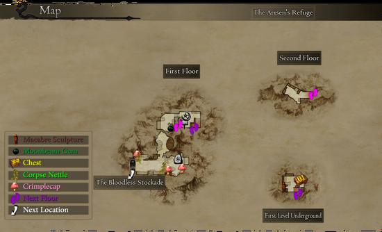 Map The Arisen's Refuge