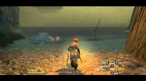 Bloodwater Beach can be easily located by walking from the Conqueror's Santuary, below the Noonflower spot.