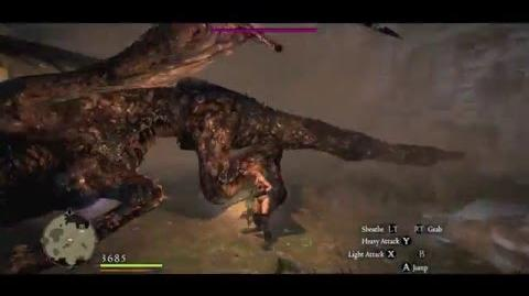 Fighter vs Cursed Dragon. One on one duel. Arisen is undamaged.