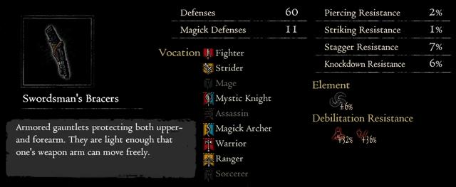 Dragonforged Swordsman's Bracers