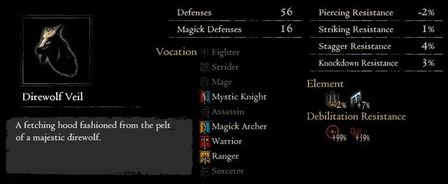 Dragonforged Direwolf Veil