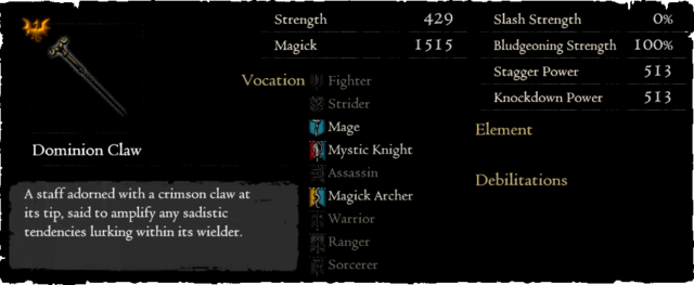 Gold Rarefied Dominion Claw