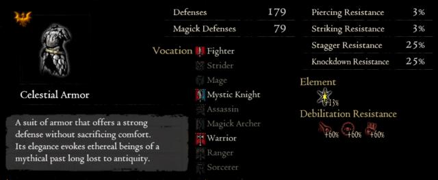 Gold Rarefied Celestial Armor
