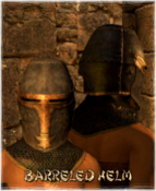 Armour Head Barreled Helm