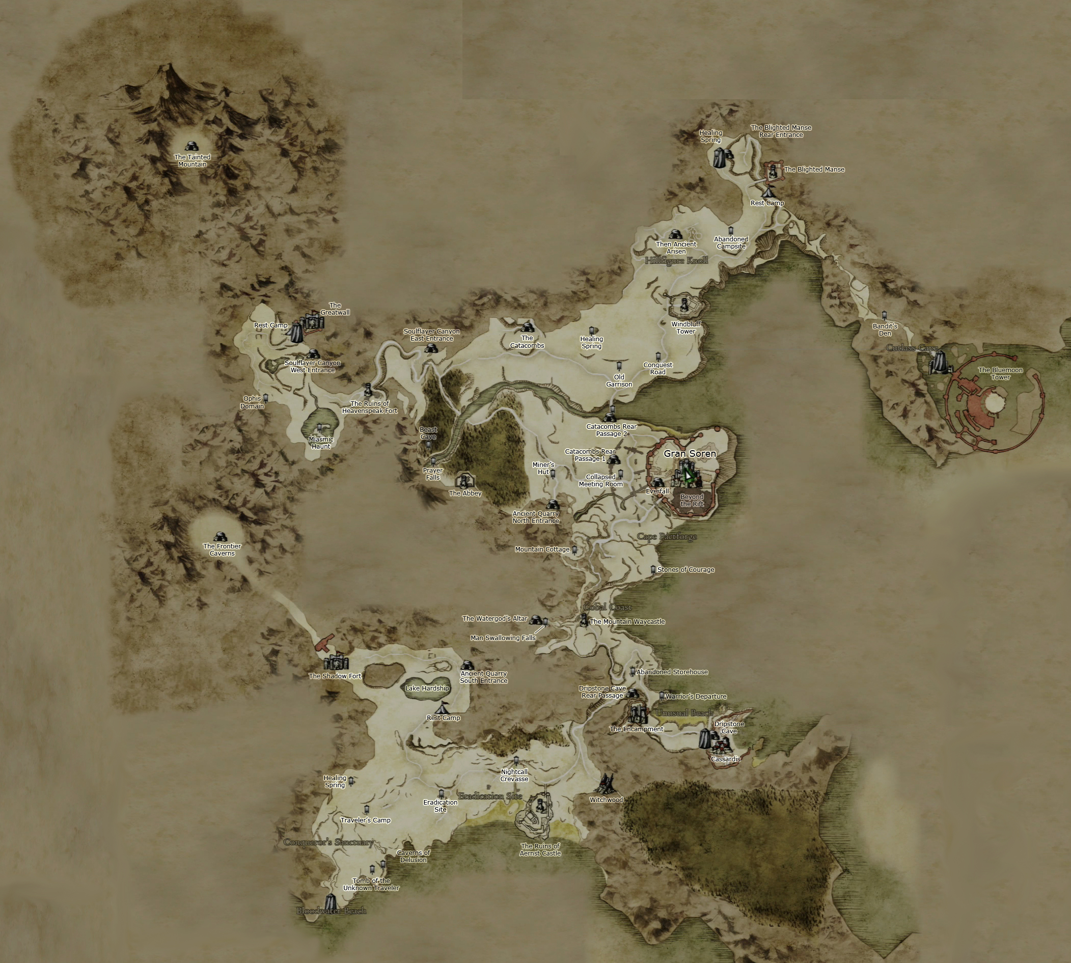 Image   Gransys map large w labels. | Dragon's Dogma Wiki