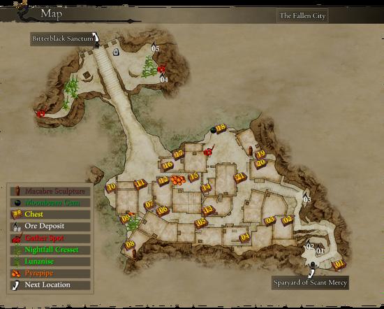Map Fallen City