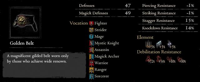 Dragonforged Golden Belt