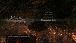 Main menu character edit