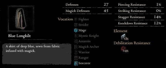 Dragonforged Blue Longkilt