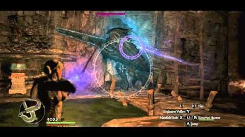 Magick Archer vs 2 Living Armor (using Ricochet Hunter)