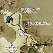 Blighted Manse map