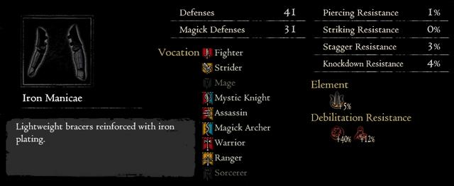Dragonforged Iron Manicae