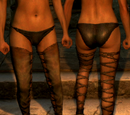 Brown Laced Leggings